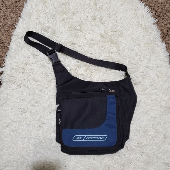 new arrivals sneakers for cheap another chance Reebok Blue Crossbody Messenger Bag